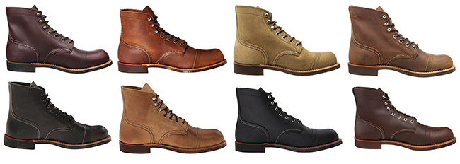 Red Wing Iron Ranger offers many more color options as well as suede options.