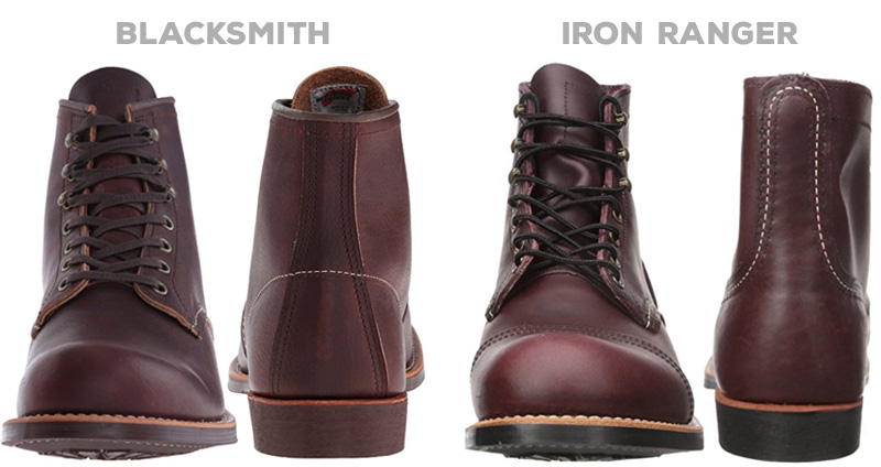 Red Wing Iron Ranger vs Blacksmith - Front and back comparison
