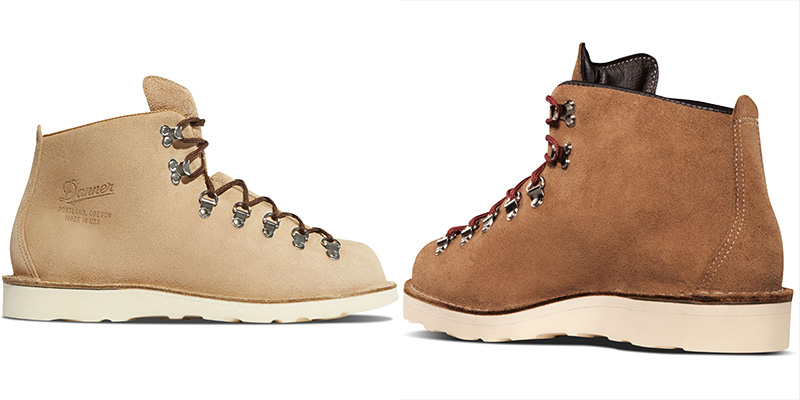 Examples of the Vibram Christy sole available only in the Mountain Light suede models.