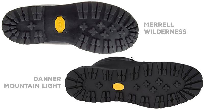 Merrel's Vibram Roccia sole vs Danner's Vibram Kletterlift
