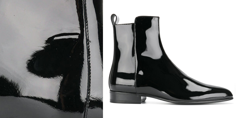 Saint Laurent Wyatt Patent Leather Boots