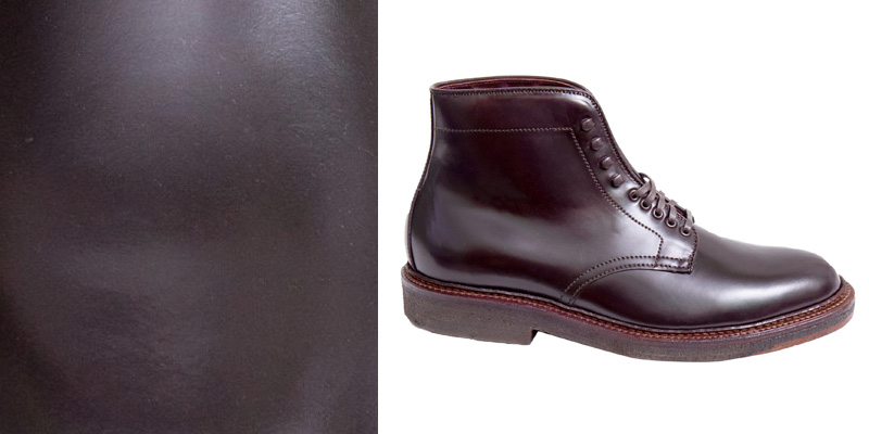 Alden Plain Toe Shell Cordovan Boots
