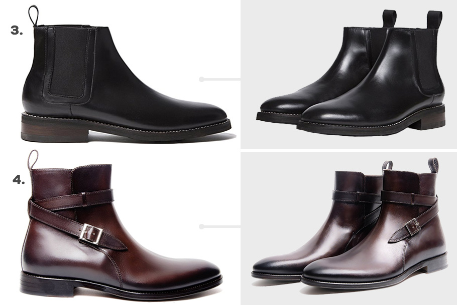 3. Thursday Boot Co. Duke Chelsea Boots ( Amazon )  4. Southern Gents Emerson Jodhpur Boots ( Amazon )
