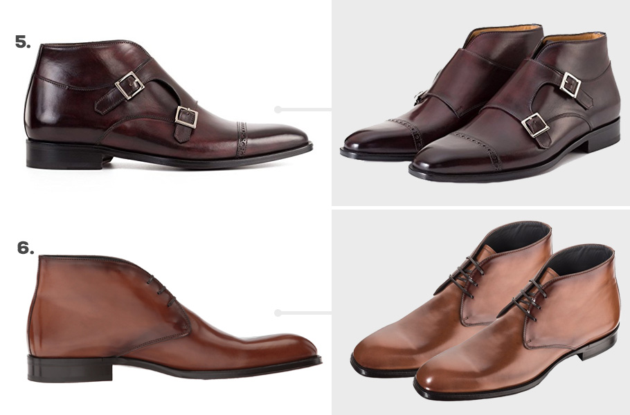 4. Paul Evans Heston Monk Strap Boots ( Amazon )  5. To Boot New York Derby Chukka Boot ( Amazon )