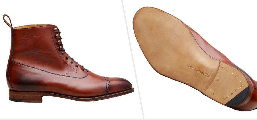 Single Leather Boot Sole: Edward Green Shannon Boots ( Edward Green )