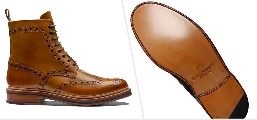 Triple Leather Sole Boots: Grenson Fred ( Amazon )