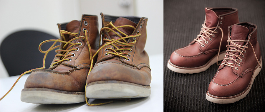 Oiling your boots restores moisture and color to leather