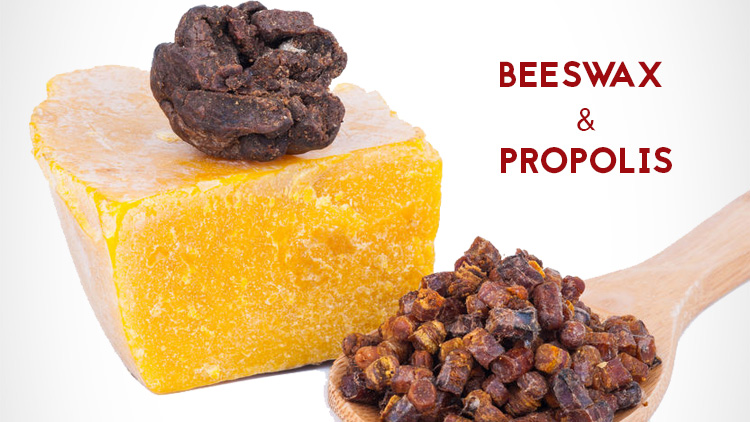 Beeswax and propolis are popular boot oil and leather conditioner ingredients.