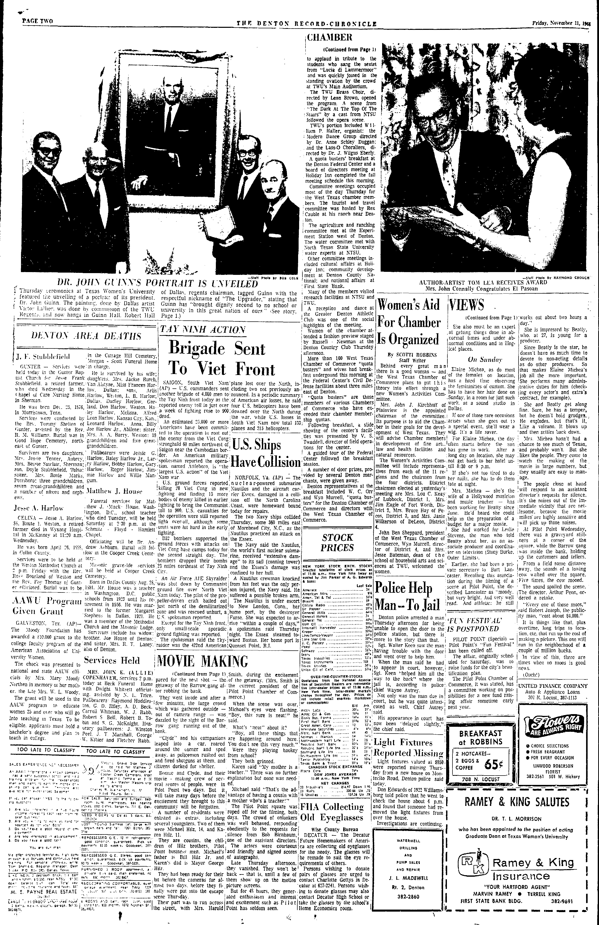 The Years Roll Back for Film (November 11, 1966)