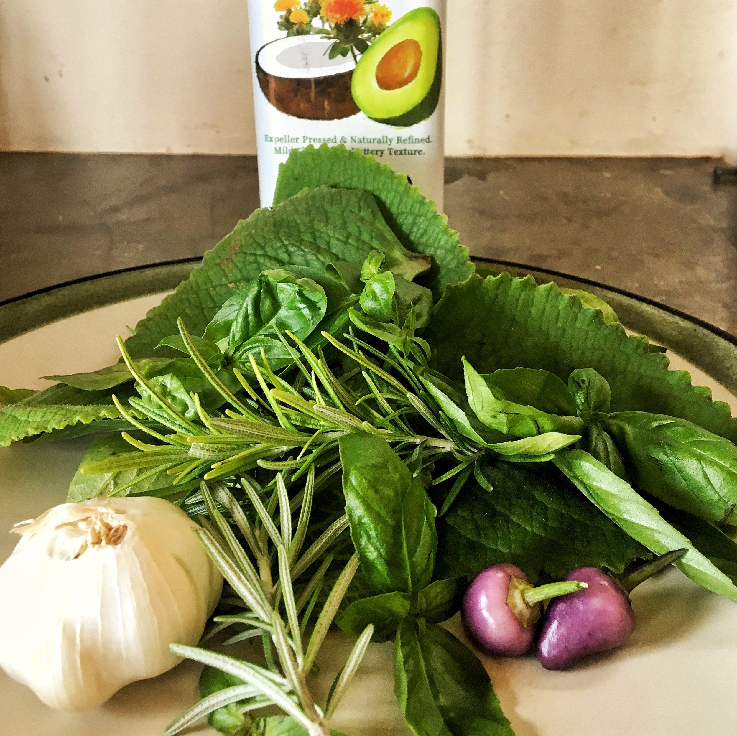 Fresh Organic Herb Infused Olive Oil