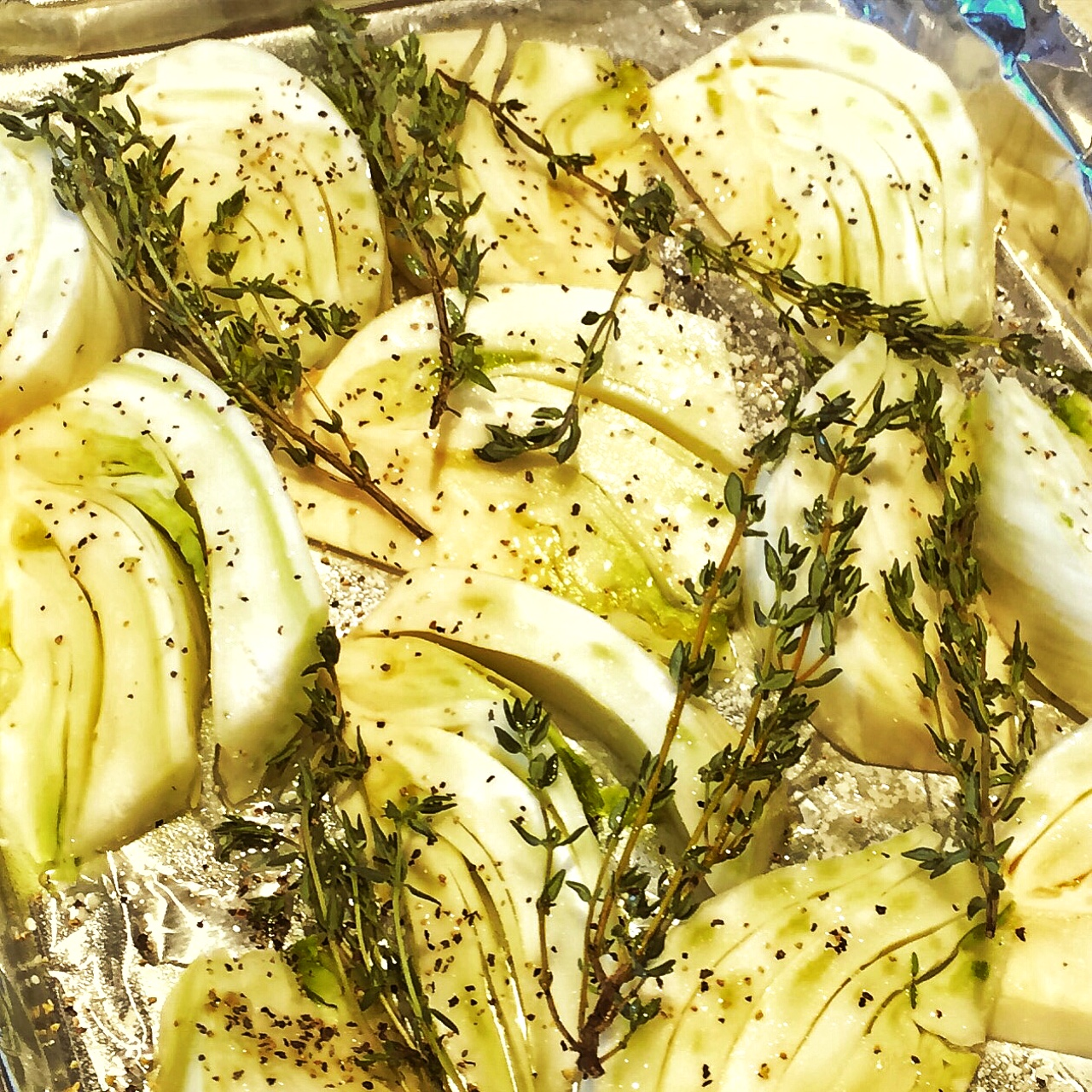 Roasted Fennel and Thyme Sprigs