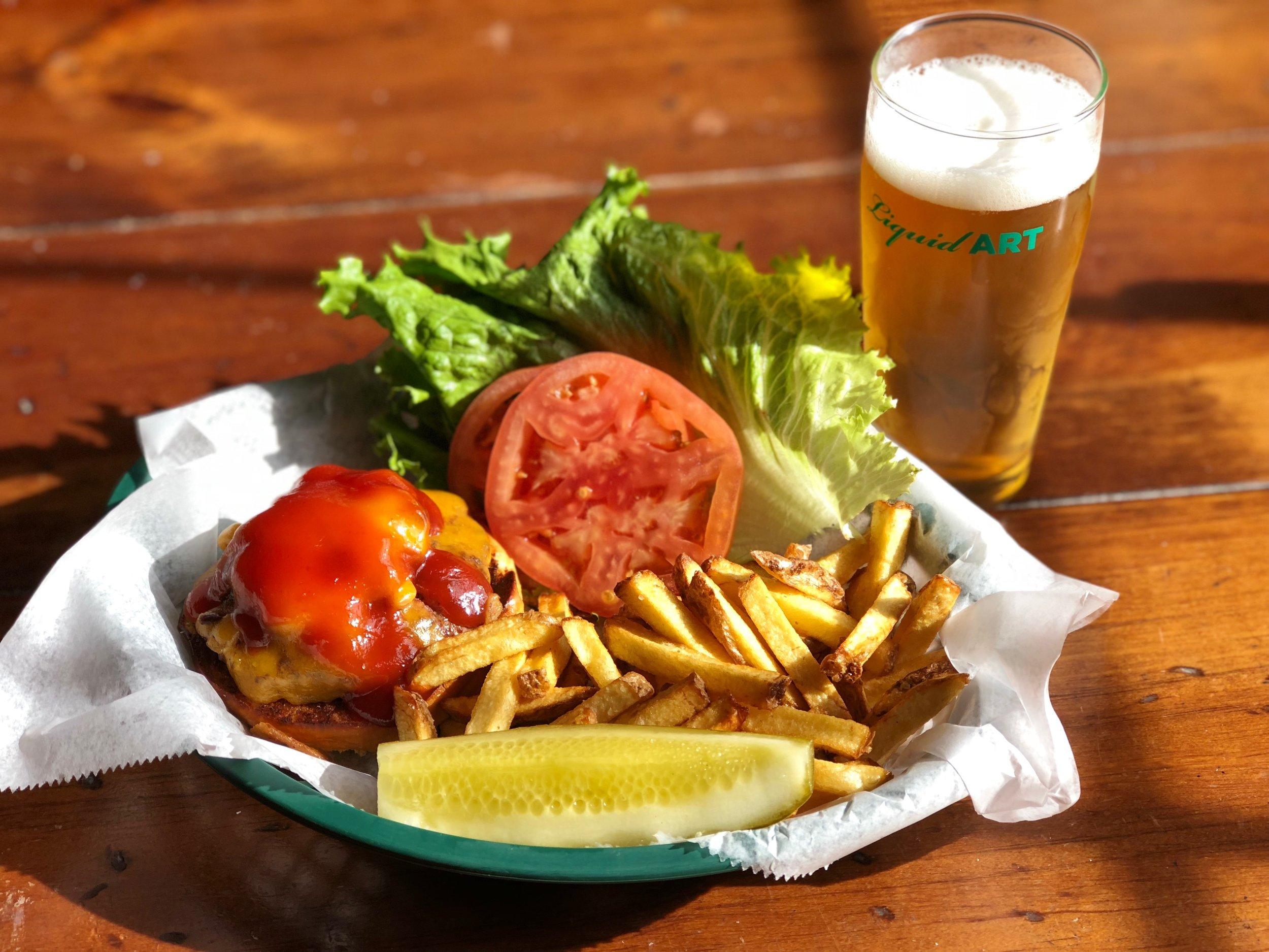 Maple Bacon Cheddar Burger