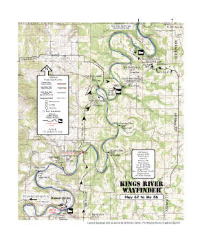 Kings River Arkansas Hwy 62 to Mo 86 Map