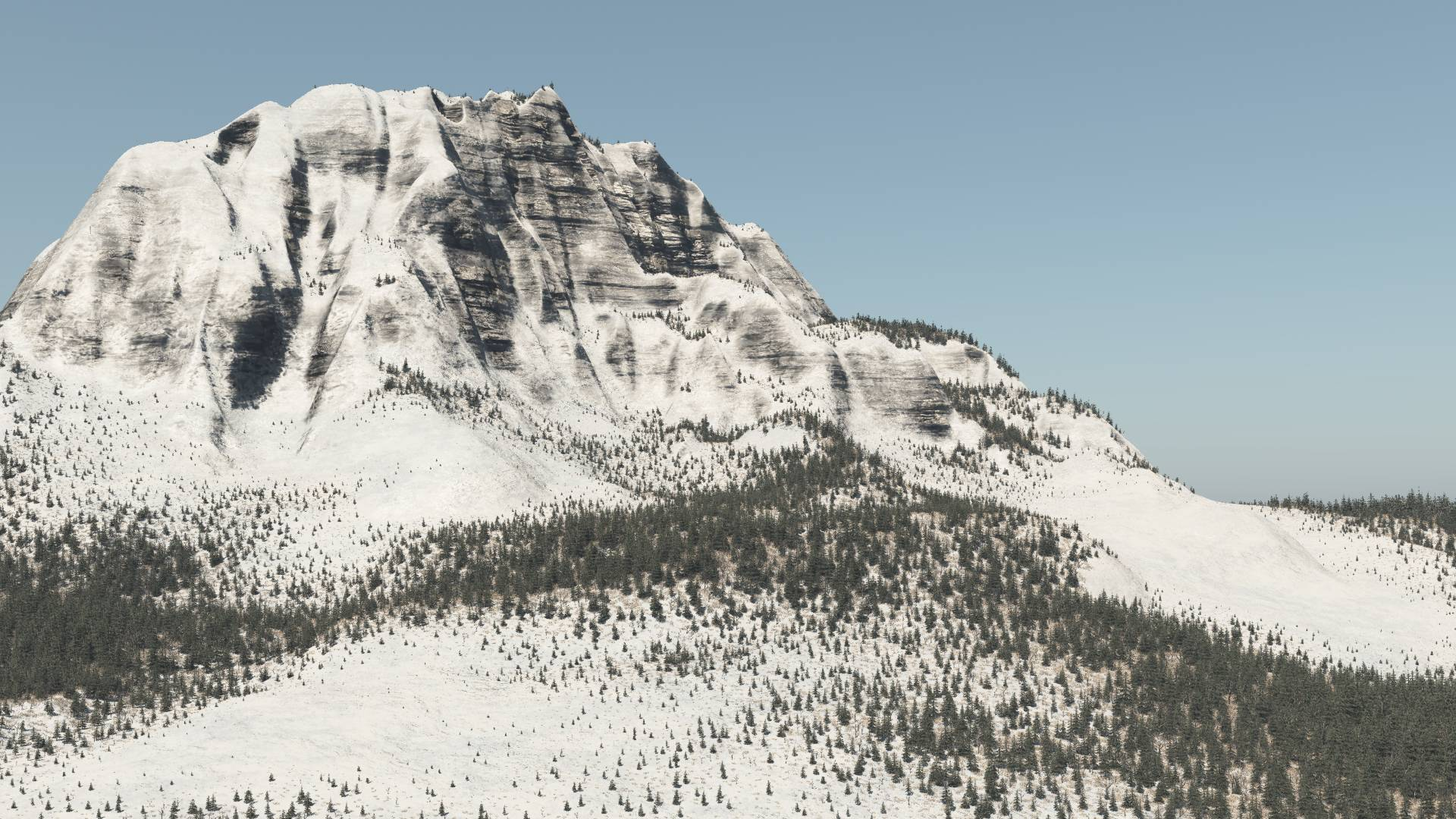 One attempt of many in my quest to render out a 3D landscape...
