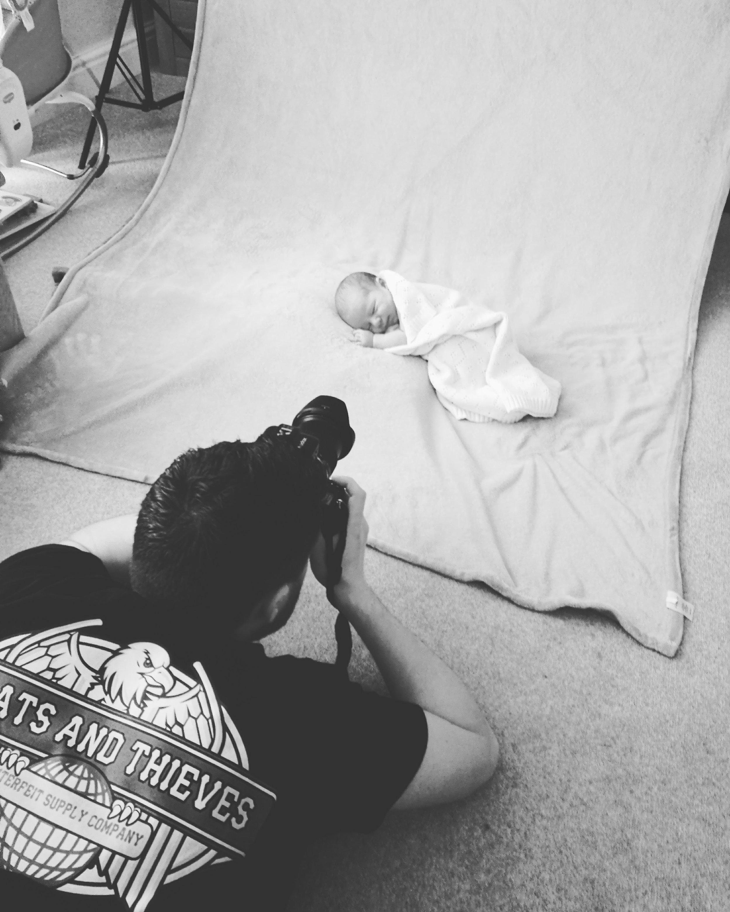 Shepreth Cambridgeshire newborn photography session