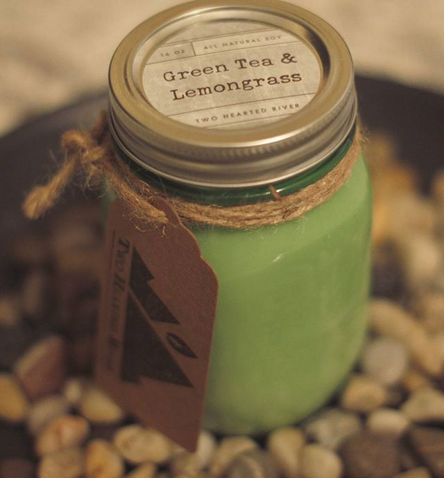 Don't forget about our amazing new scent Green Tea and Lemongrass. #Twoheartedriver #soycandles #clean #burn #homemade #fire #life