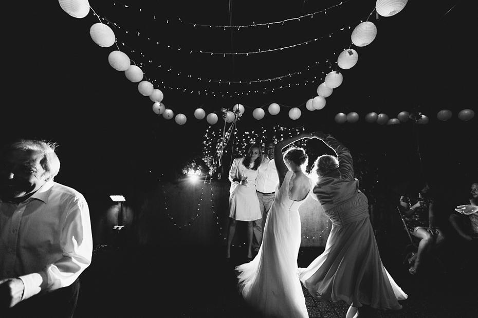 Dekoration Tanzbereich Lampions Licht Hochzeit