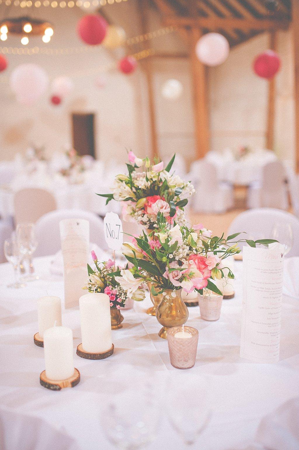Tischdeko Blumen Rosa