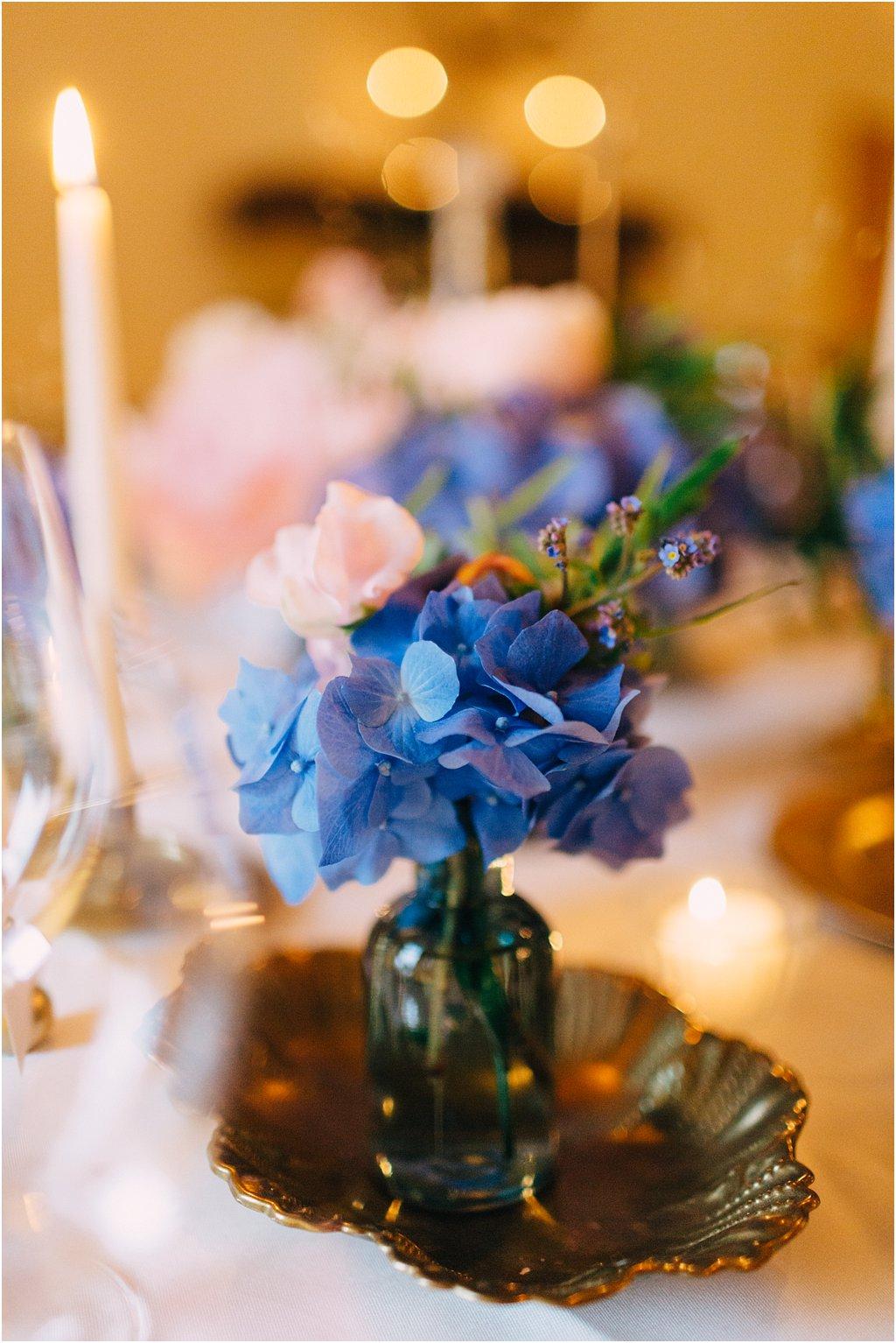 Hortensie blau Hochzeit