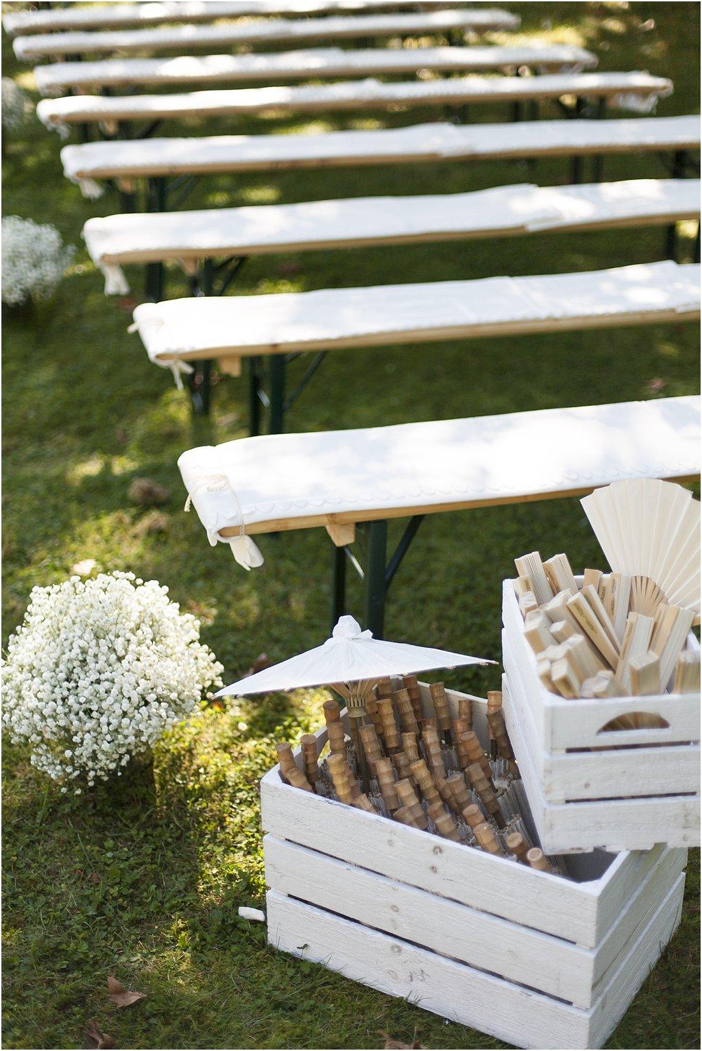 Sonnenschirm Gäste Hochzeit