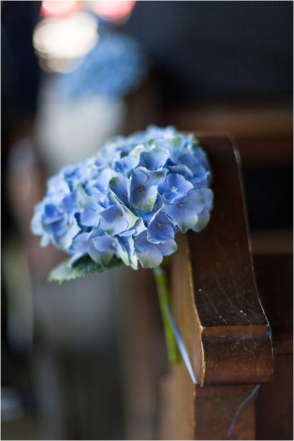 Blumenschmuck Hortensie blau