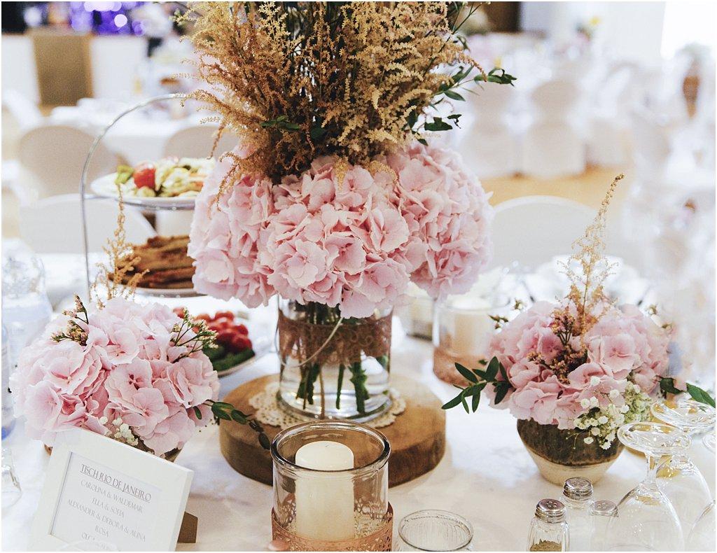 Hochzeit Blumen üppig Hortensien