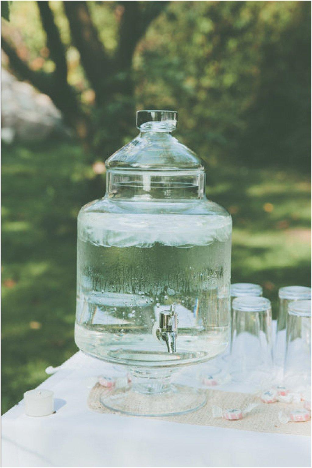 Getränkespender Glas mit Deckel