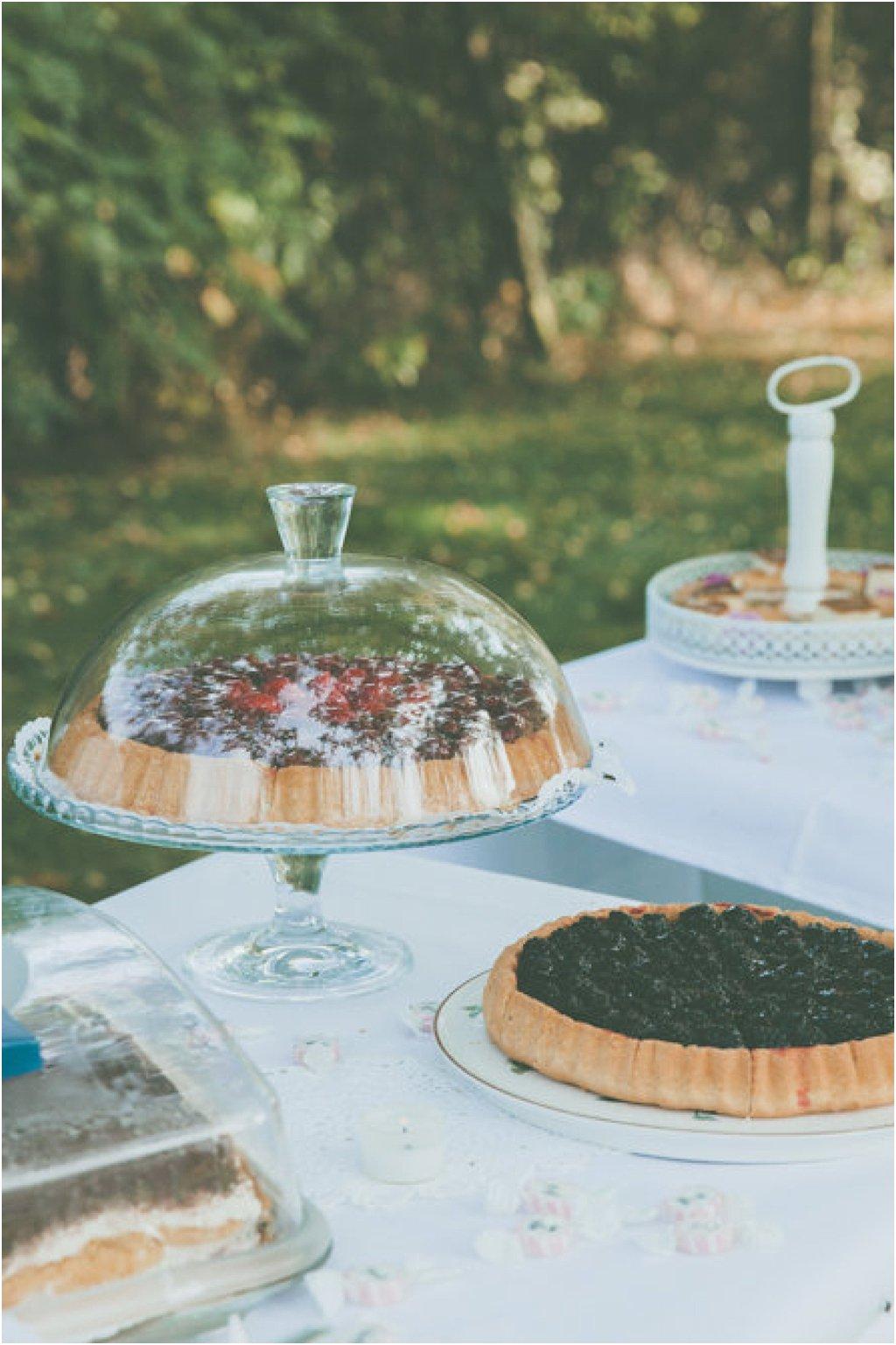 Kuchenplatte Glas mit Haube