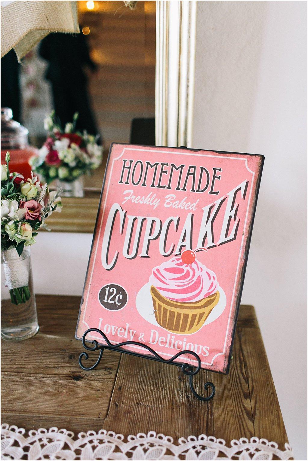 Cupcake Schild Candybar