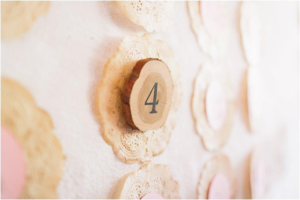 Tischnummer Holz
