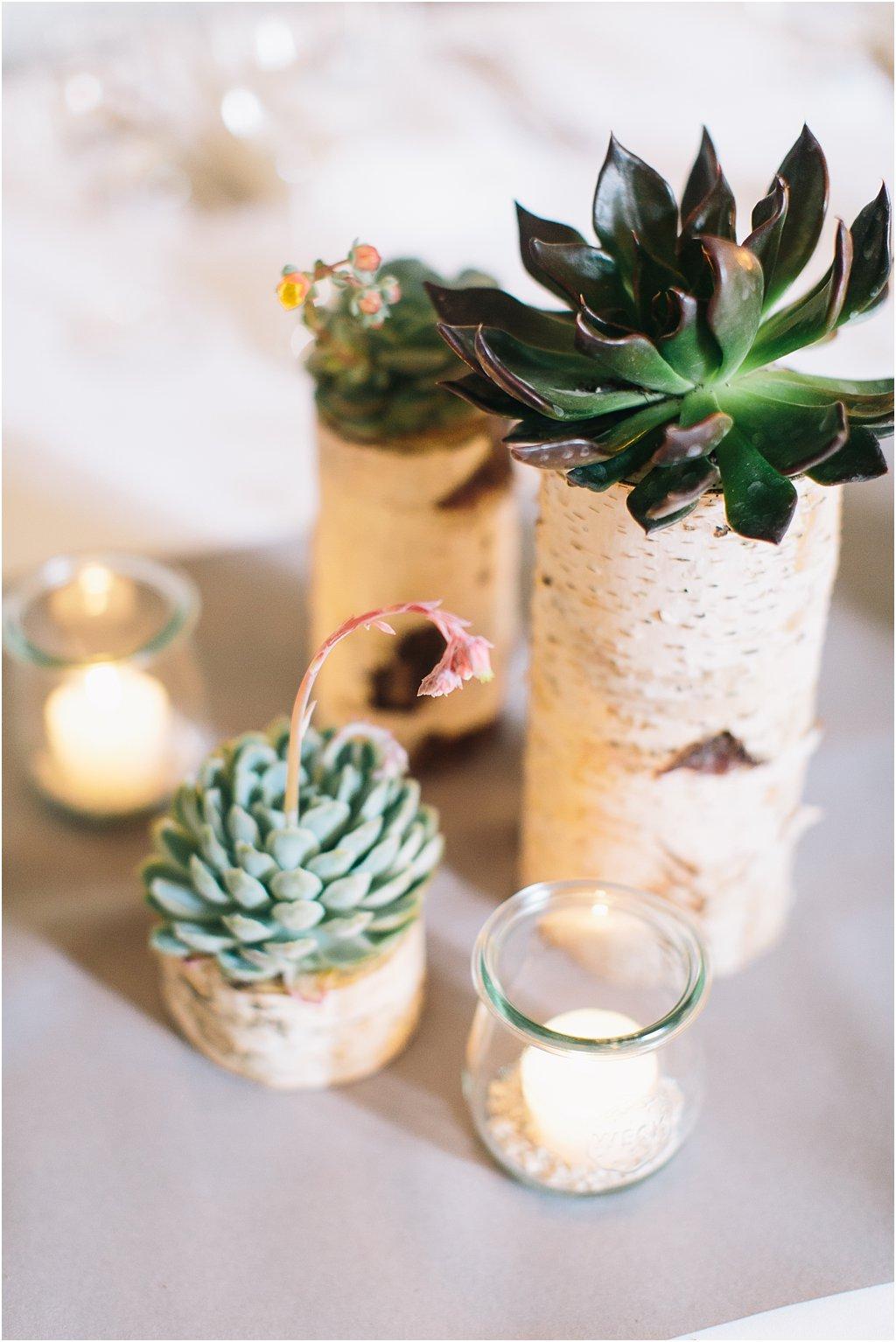 Birkenhalter für Kerzen oder Blumen