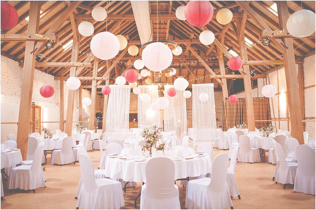 Raumdekoration Hochzeit Lampions