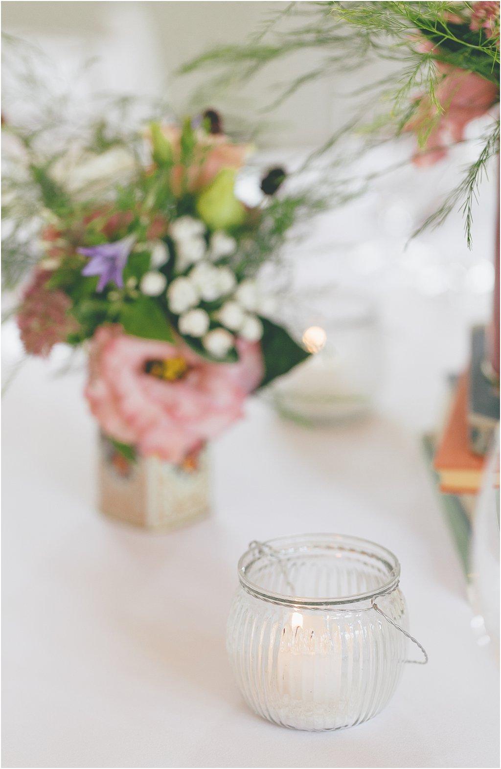 Teelichtglas Rillen