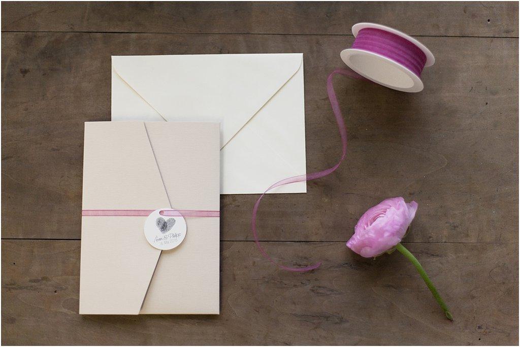 Pocketeinaldung geschlossen, mit Elfenbein Briefumschlag