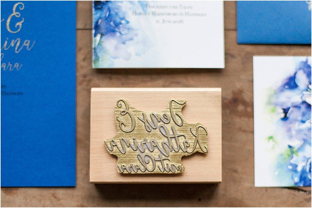 Farbstempel für Golddruck auf Kirchenheft