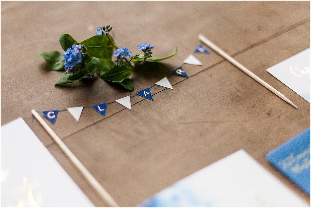 Wimpelkette aus Papier für Kuchen