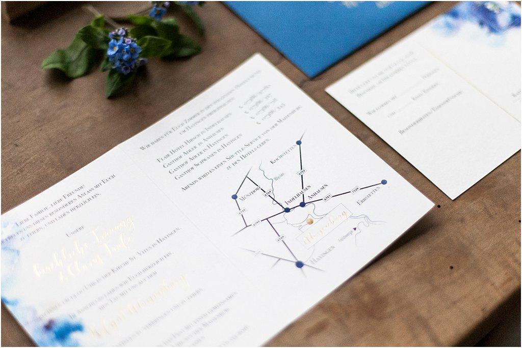 Detailansicht Einladung Anfahrtsskizze