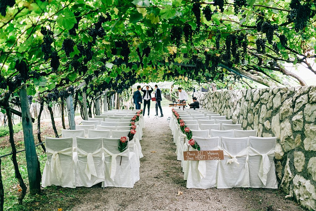 Freie Trauung in den Weinreben