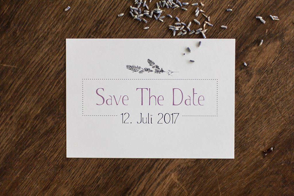 Save the Date Postkarte Vorderseite