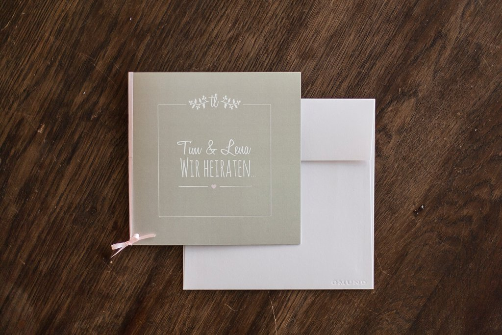 Klappkarte Einladung mit Briefumschlag