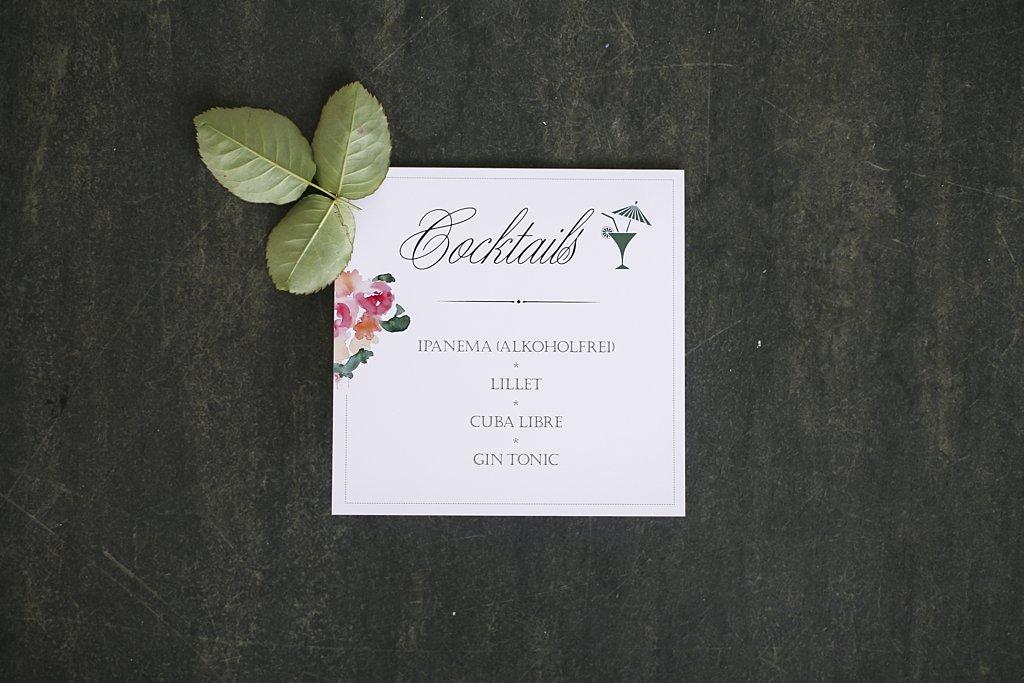 Cocktailkarte zum Aufstellen