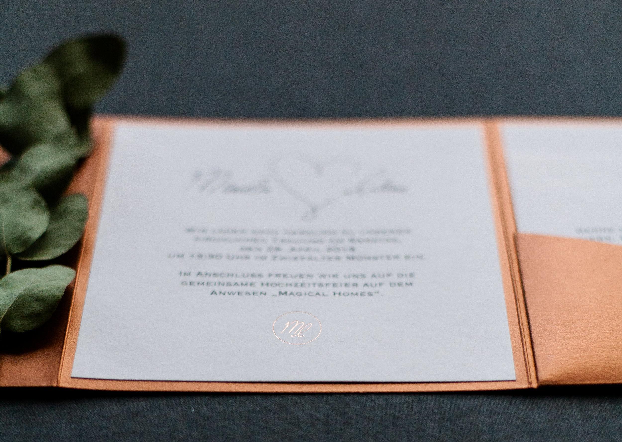 Einladungsschreiben, Einladungstext für Pocketfold Einladung
