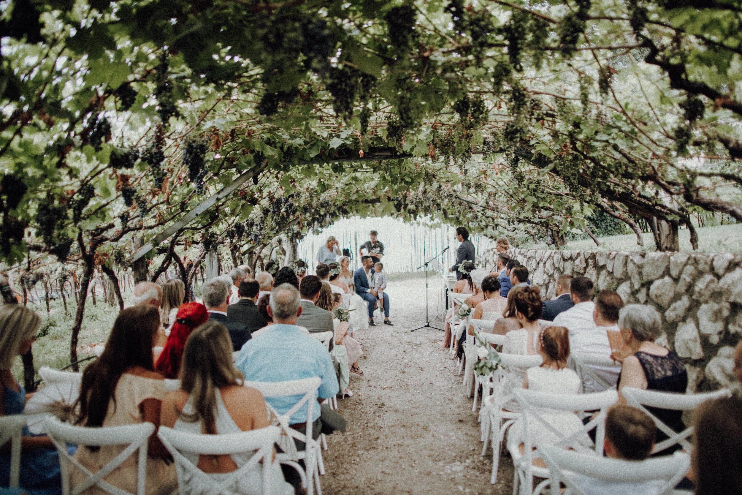 Trauung Weinberge Italienhochzeit