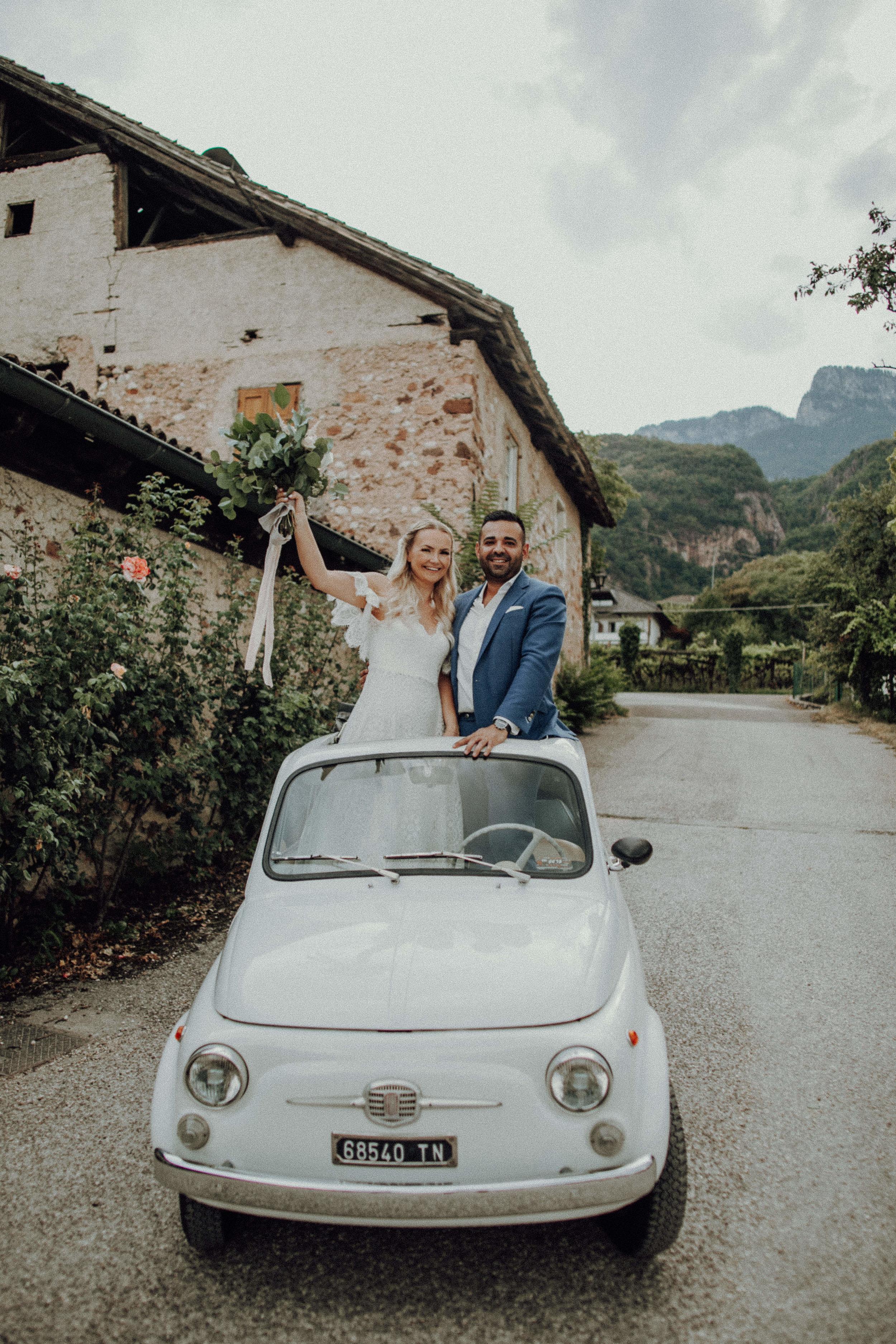 Hochzeitsauto Brautpaar 2018 Mini Italien Auto