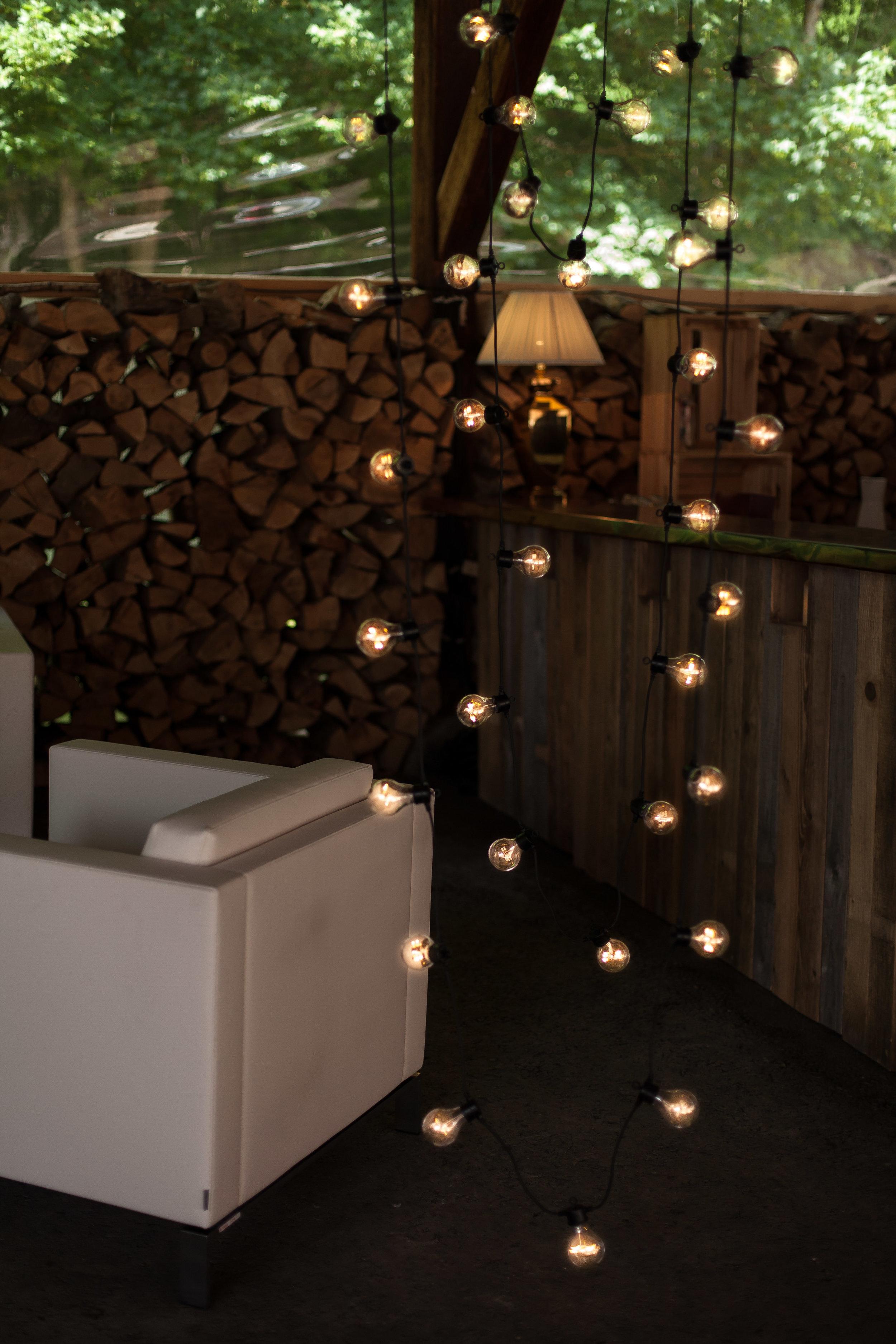 Lichterketten senkrecht Hochzeit
