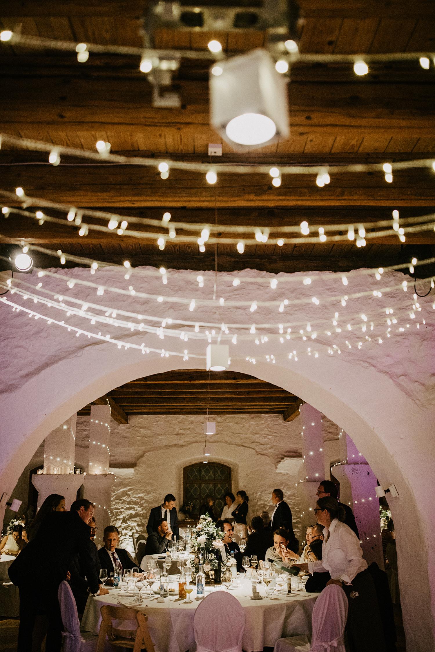 Hochzeit viele Lichter