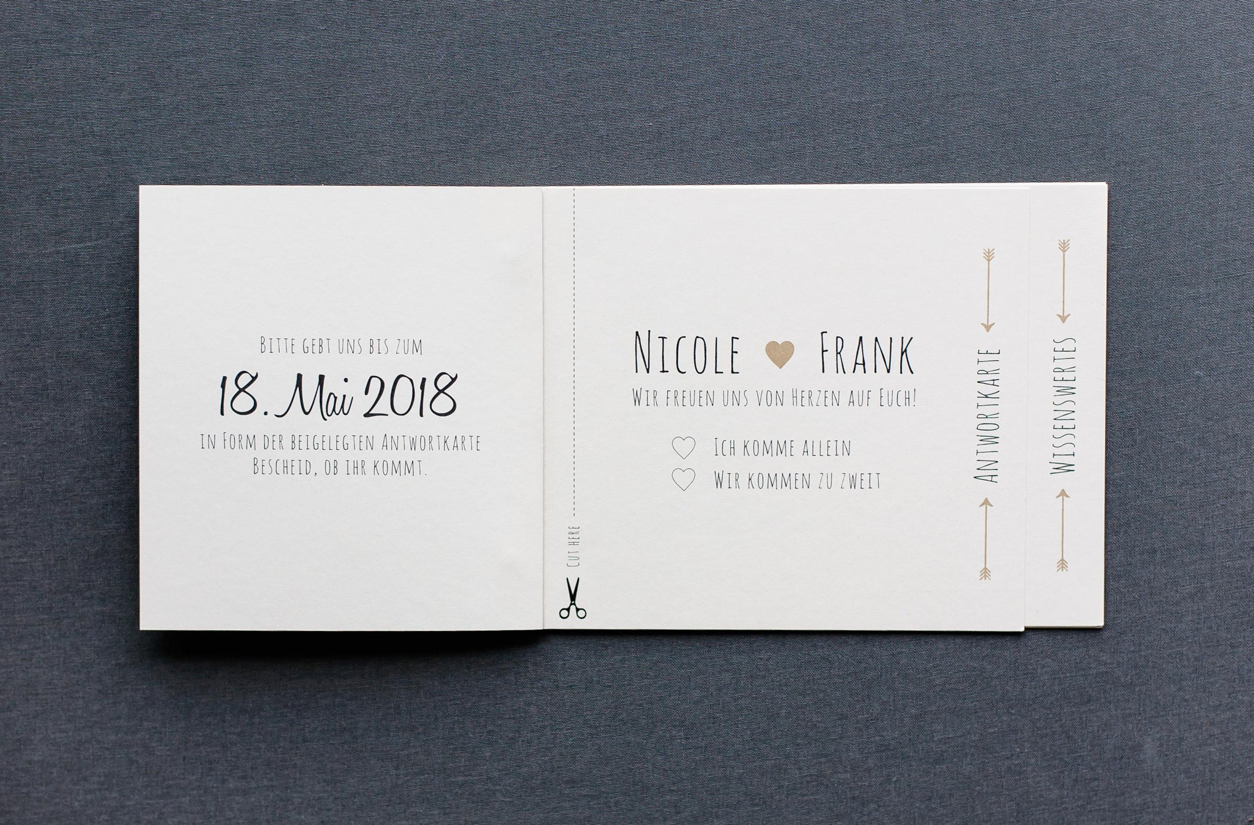 Booklets Einladung, Innenseite 1