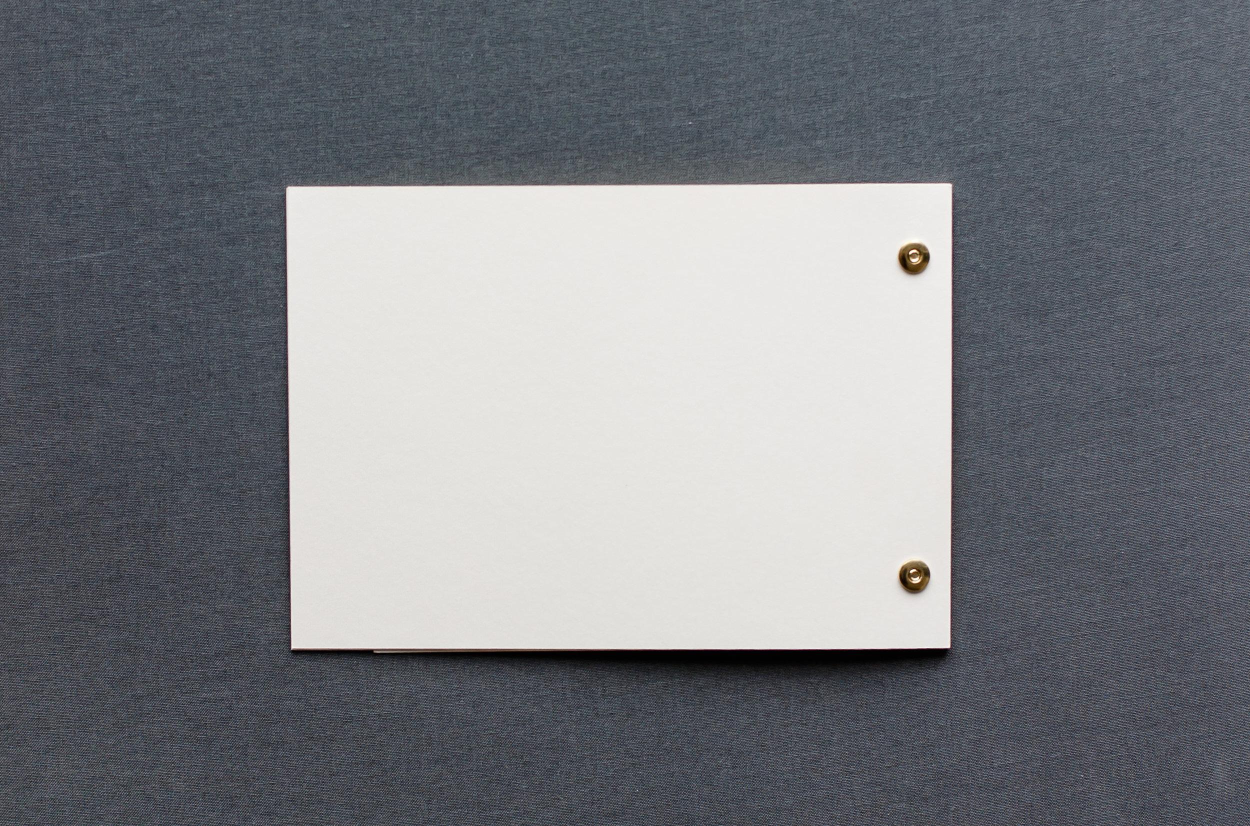 Booklets Einladung, Rückseite