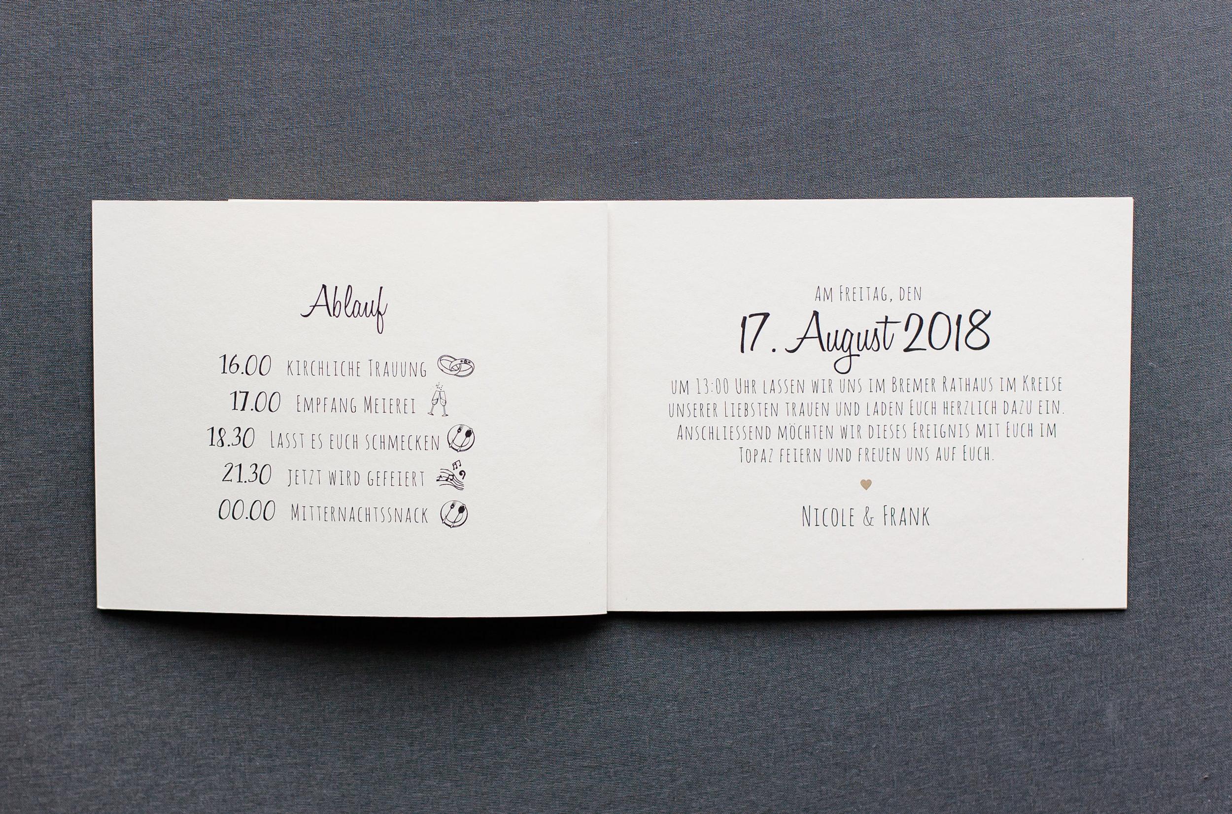 Booklets Einladung, Innenseite 3