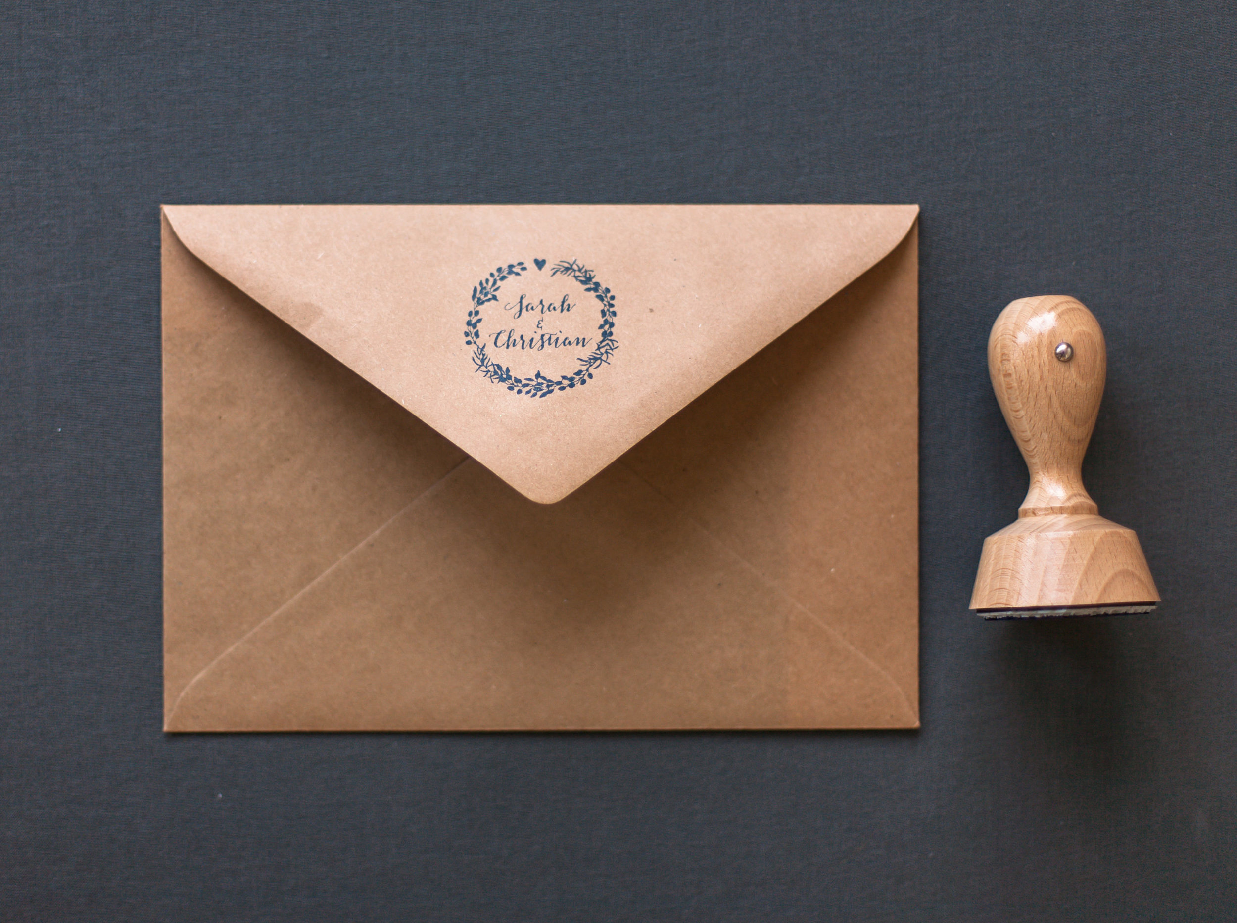 Briefumschlag Kraftpapier mit Stempel